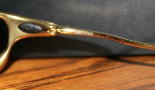 New Rare Lmtd Edition Oakley Juliet 24K Titanium Polarized 24-293. Model  Number  24-293. Frame  Adjustable frame of titanium alloy. Lens  Bronze  base lens 7472abfb1a