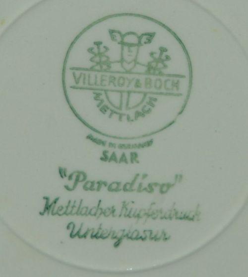 Villeroy Boch Made In Germany: VILLEROY & BOCH METTLACH: 1940's