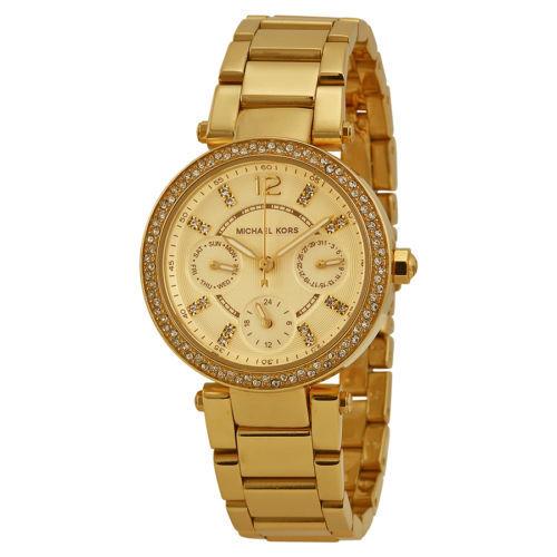 d091de508a6a Women s Watches - Michael Kors Mini Parker Champagne Steel Women s ...