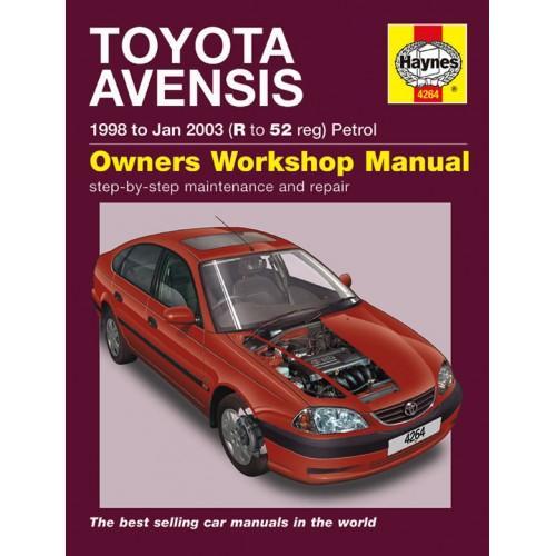 workshop manuals haynes 4264 toyota avensis 1998 to 2003 repair rh bidorbuy co za toyota avensis 1998 workshop manual pdf toyota avensis 1998 service manual download