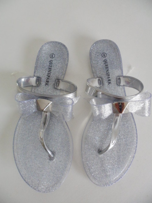 e25d5d8dadbb Gorgeous silver Jelly Sandals from QUEENSPARK brand new ! Size 4. Summer s  here !!