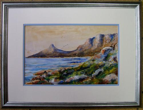 Watercolours framed watercolor by well known collectable for Anderson art glass