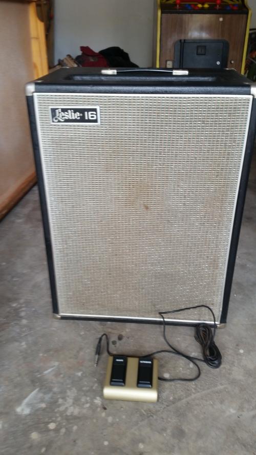 guitar amps 1962 leslie model 16 h10495 very rare 16 rotating speaker cabinet. Black Bedroom Furniture Sets. Home Design Ideas