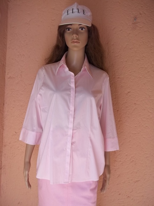 d3bc4b76e7c3a6 Shirts - ELEGANT PINK COTTON SHIRT FROM WOOLWORTHS - Size !4 (38 ...