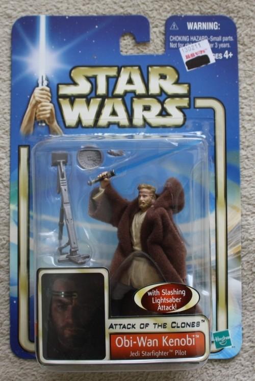 Star Wars Attack of the Clones Obi-Wan Kenobi Jedi Starfighter Pilot Figure new!