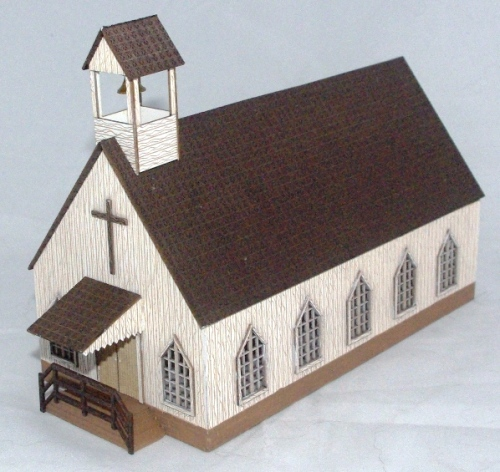 N Scale - Old West Church Kit