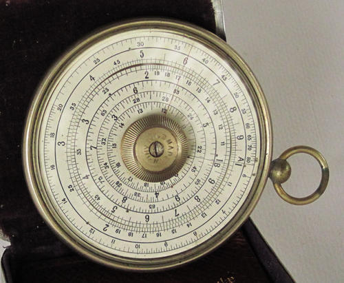 Other scientific instruments halden calculex circular slide rule very old was sold for - Sa post office tracking number ...