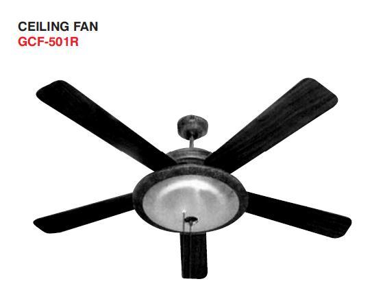 Fans Goldair 132cm Ceiling Fan Black With One