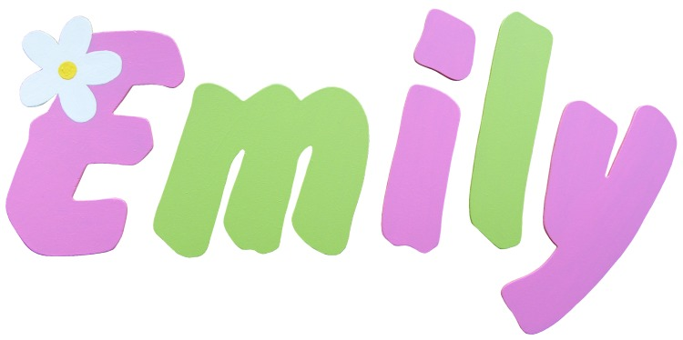 Pink Lime Daisy Wooden Alphabet Letters