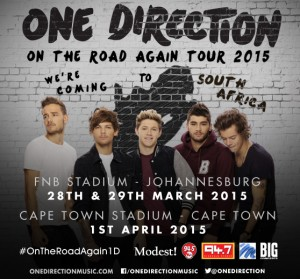 Concert Tickets - x3 One Direction Tickets - Next to ...