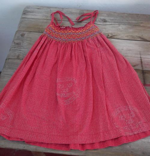 Dark Orange Dress For Little Girl By