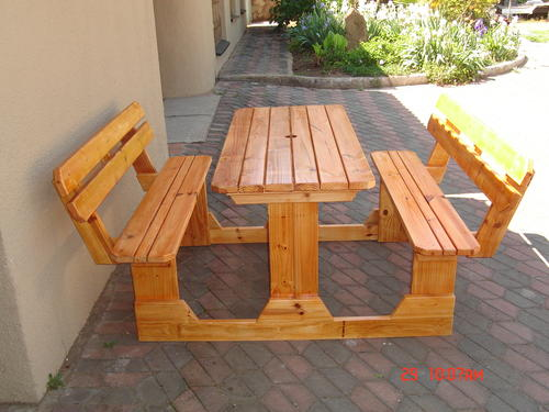 Patio Sets Picnic Tables Seater Pine Picnic Bench FREE - Picnic table with backrest