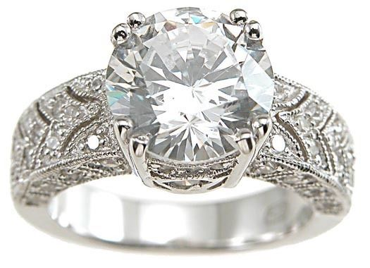 Engagement Rings IN STOCK 3 CARAT 925 STERLING SILVER VINTAGE STYL