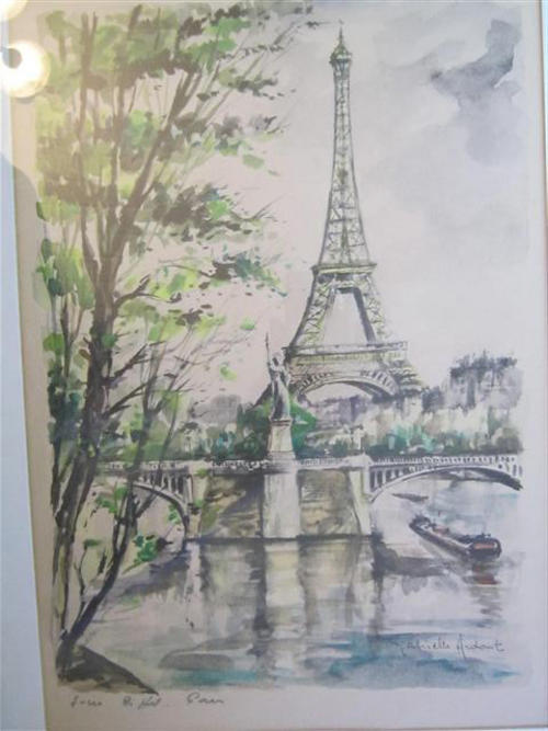 Watercolours Framed Behind Glass Watercolour By French