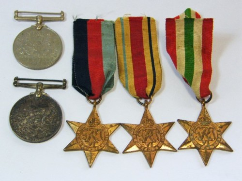 Set of 5 WW2 medals issued to H. Stanbrige ( 194083 ) - as per photo
