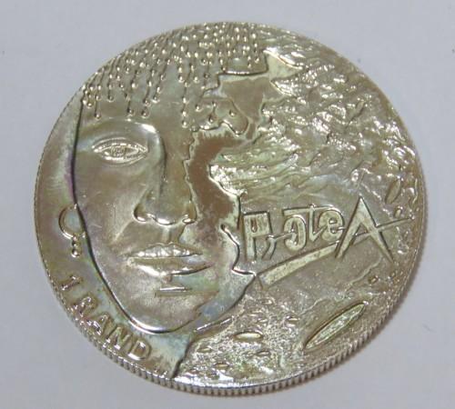 1997 RSA uncirculated silver Protea R1