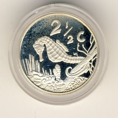 RSA 1997 Silver Seahorse 2 1/2 cent Tickey - Proof and untouched with certificate