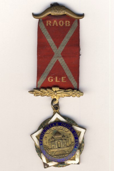 RAOB India medal to Bro J Laird as per scan