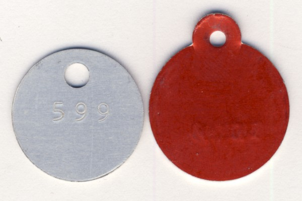 Lot of 2 vintage Dog licenses ending on 99 - Knysna 1981 & Koup 1985