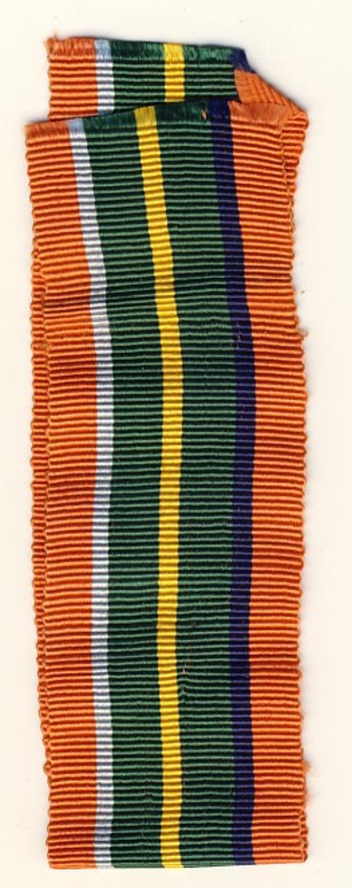 WW2 Pacific Star Medal ribbon - 6 inches - as per scan