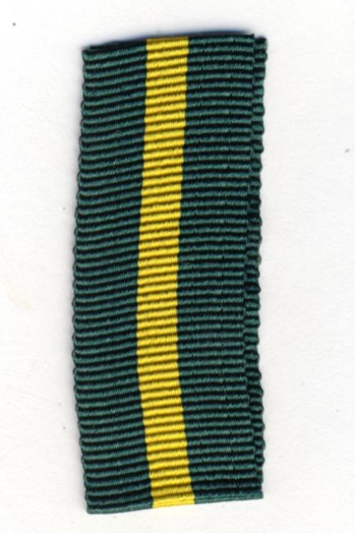 Territorial Force Efficiency miniature medal ribbon - 9cm