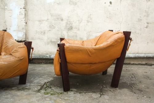 MP 211 Leather Lounge Chairs By Percival Lafer Mid Century Retro
