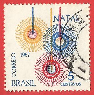 1967 BRAZIL CHRISTMAS DECORATIONS