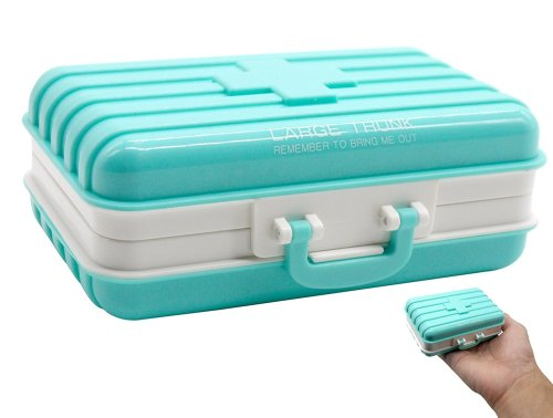 Unusual Items - Cute Suitcase Storage Box Travel Tablets