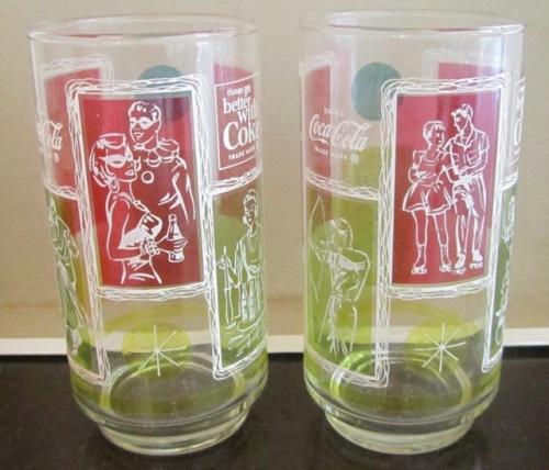 Unused in box Set of 4 Italia 90 World Cup Coca-Cola Coke Glasses Tumblers