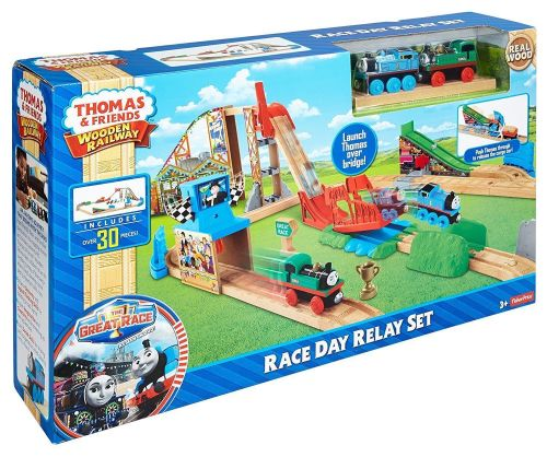 wooden toys fisher price thomas the train wooden railway race day relay set was listed for r3. Black Bedroom Furniture Sets. Home Design Ideas