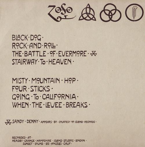 Classic Rock Led Zeppelin Untitled Led Zeppelin Iv