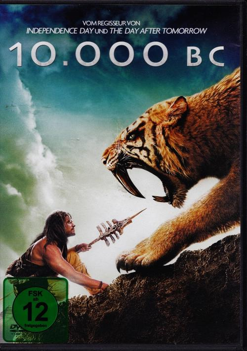 10,000 BC - STANDARD EDITION DVD - GERMAN RELEASE in English, German,  Spanish or Italian