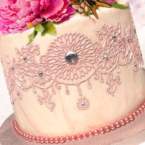 Cake Decorating Ready Made Flowers : Cake Decorating - Edible lace (Ready made) for cake ...