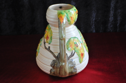 English Porcelain Rare Carlton Ware Oak Leave Two Handled Vase