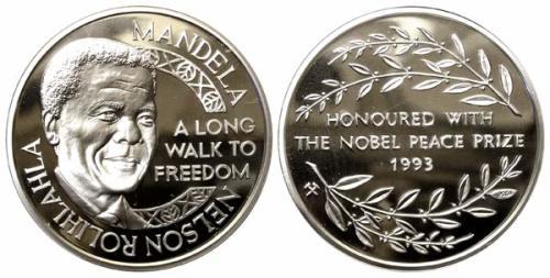 Other Mandela Coins Nelson Mandela 1993 Nobel Peace