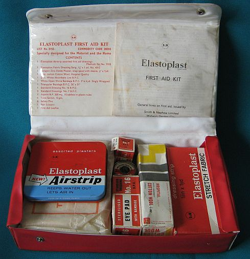road old elastoplast first aid kit for the motorist was listed for