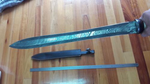 DAMASCUS Hand Made GLADIUS ROMAN Swords as seen on GLADIATOR!! FEEL LIKE A  GLADIATOR !! 68cm !!