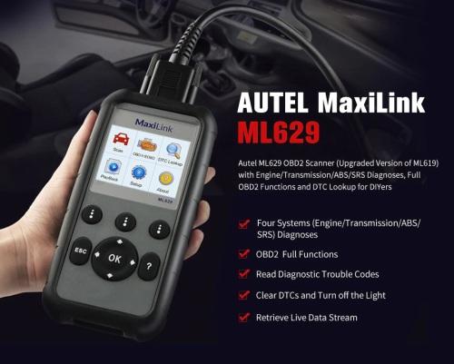 Scanners - Autel ML629 OBD2 Scanner Automotive Engine Transmission