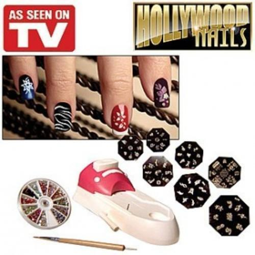Nails hollywood nails nail printing kit was sold for r14900 hollywood nails fun flirty glamorous and chic the all in one nail art system prinsesfo Gallery