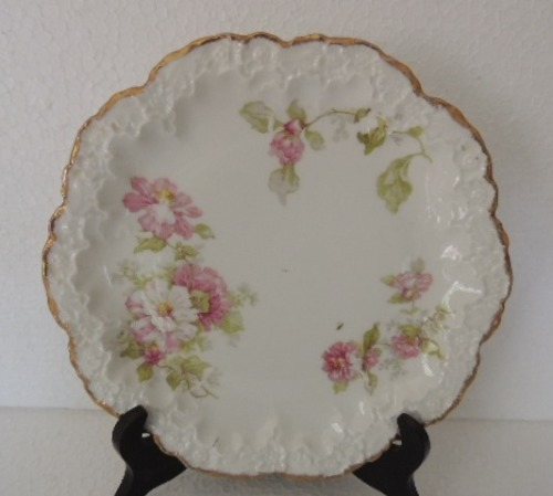 French Porcelain - LIMOGES A  LANTERNIER 1855 - PAIR OF PLATES was