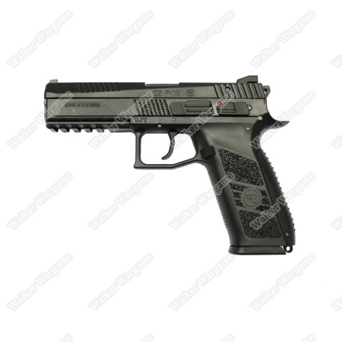 KJ Works CZ-75 P-09 Duty Airsoft Green Gas Blow Back Pistol - Black