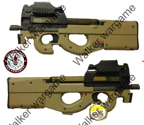 G&G P90 PDW99 Bullpup Design AEG - Build In Laser And Red Dot Sight - Tan