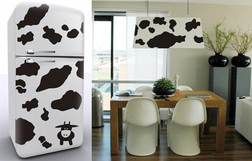 Kitchen Decor Cowprint Sticker Vinyl Decal