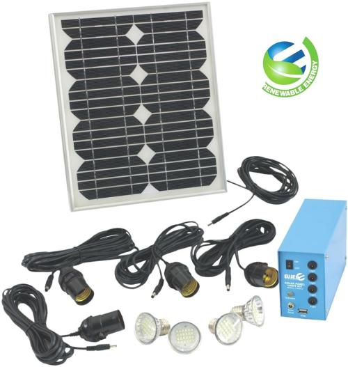 Solar Lights Za: SOLAR PANEL LIGHT KIT (4 LIGHTS) Was