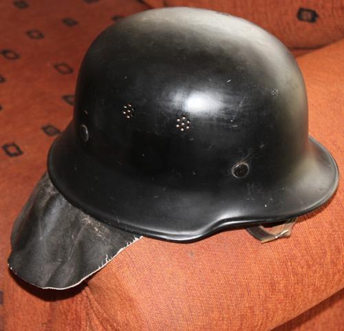 Headgear Original Ww2 German M34 Police Helmet With