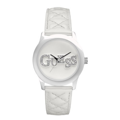 8505eef96e51 Women s Watches -  Brand New  GUESS Women s White Quilty Leather ...