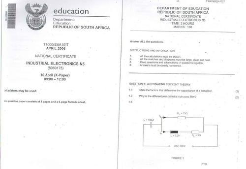 mathematics n1 question paper and memo