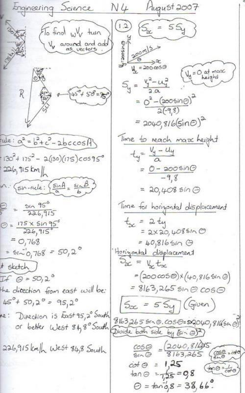 engineering science n4 question papers and memos