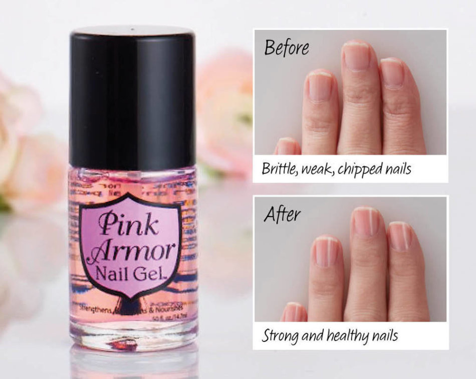Nails - Pink Amor Nail Gel - Strengthens, Protects, Repair and ...