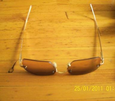 8c7c099eeb56 Emporio Armani 163 - S Beige Lens   Gold Frame Sunglasses. Ladies Aviator